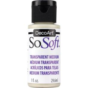 SoSoft Fabric Acrylic Paint Medium 1oz - Transparent