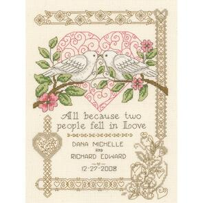 "Imaginating  Counted Cross Stitch Kit 7.25""X10"" - All Because Wedding (14 Count)"