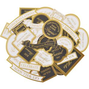 Kaisercraft Collectables Cardstock Die-Cuts - With Love, White & Gold