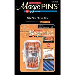 Taylor Seville Magic Pins - Silk Extra Fine Orange 100/Pkg
