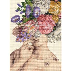 "Dimensions  Counted Cross Stitch Kit 5""X7"" - Garden Lady"