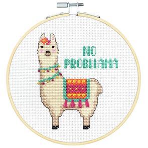 """Dimensions  Cross Stitch Kit 6"""" Round - No Probllama"""