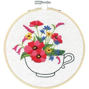 Dimensions  Embroidery Kit - Teacup Bouquet