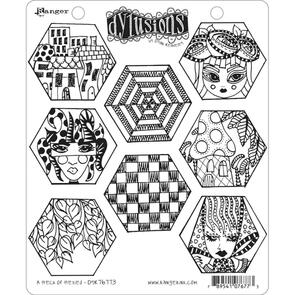 Ranger Ink Dylusions Cling Stamp Collections - A Heck Of Hexies