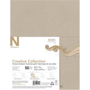 "Neenah Cardstock 8.5""X11"" 65lb (176gsm) 50/Pkg Creative Collection, Kraft"