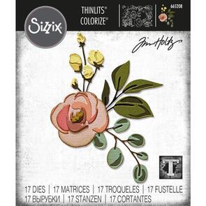 Sizzix Tim Holtz Thinlits Die Set 17PK - Bloom, Colorize by