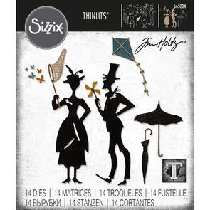 Sizzix Tim Holtz Thinlits Die Set 14PK - The Park by