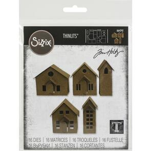 Sizzix Thinlits Dies By Tim Holtz 16/Pkg Paper Village