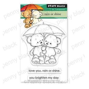 Penny Black Clear Stamps Rain Or Shine