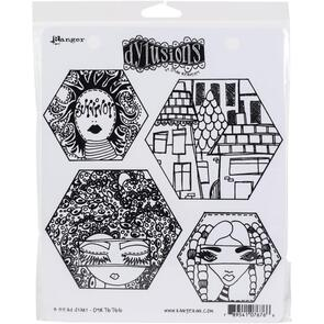 Ranger Ink Dylusions Cling Stamp Collections - A Head Start