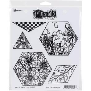Ranger Ink Dylusions Cling Stamp Collections - Quilt As You Go