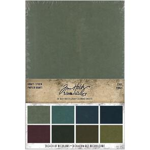"Idea-Ology Tim Holtz Kraft-Stock Stack Cardstock Pad 6""X9"" 24/Pkg"