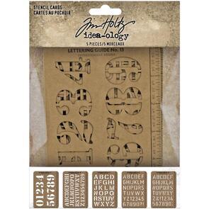 "Idea-Ology Tim Holtz Stencil Cards 5.375""X3.75"" 5/Pkg"