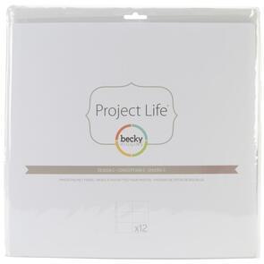 Prima  Project Life Photo Pocket Pages 12/Pkg - Design C