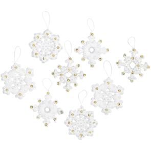 Bucilla Felt Ornaments Applique Kit Set Of 16 - Elegant Christmas Snowflakes