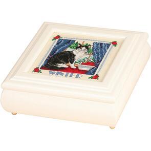 "Sudberry House  White Betsy Square Box 8""X8""X2.75"""