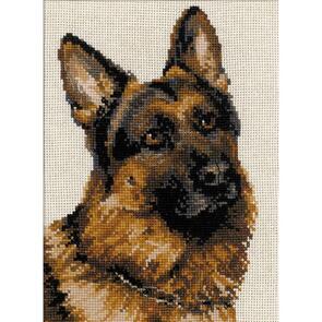 Riolis  Counted Cross Stitch Kit - German Shepherd