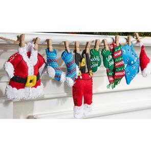Bucilla Felt Garland Applique Kit - Santa's Laundry
