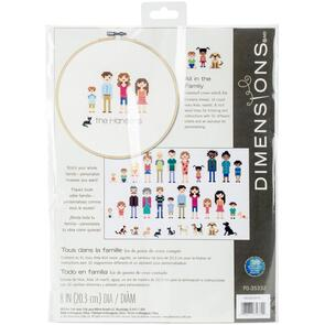 Dimensions  Cross Stitch Kit - All In The Family (Customize!)