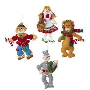 Bucilla Felt Ornaments Applique Kit Set Of 4 - Christmas in OZ