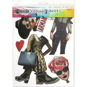 Ranger Ink Dyan Reaveley's Dylusions Collage Sheets 24/Pkg - Set 3