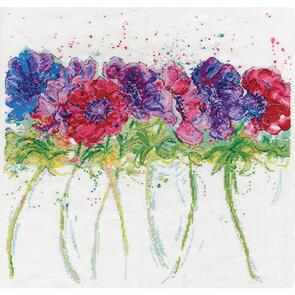 Design Works Counted Cross Stitch Kit - Modern Anemones