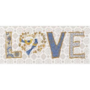 """Design Works Counted Cross Stitch Kit 8""""X20"""" - LOVE"""