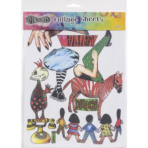 """Ranger Ink Dyan Reaveley's Dylusions Collage Sheets 8.5""""X11"""" 24/Pkg Set 4"""