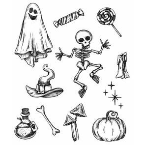 Stampers Anonymous Tim Holtz Cling Stamps - Halloween Doodles