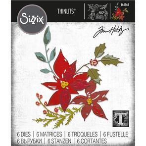 Sizzix Tim Holtz Dies 6/Pkg - Festive Bouquet