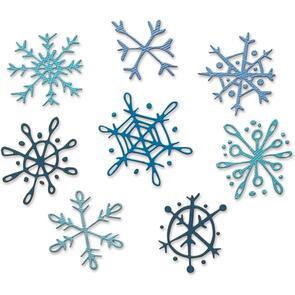 Sizzix Tim Holtz Die Set 8PK - Scribbly Snowflakes
