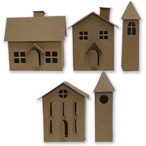 Sizzix Tim Holtz Die Set 21PK - Paper Village #2