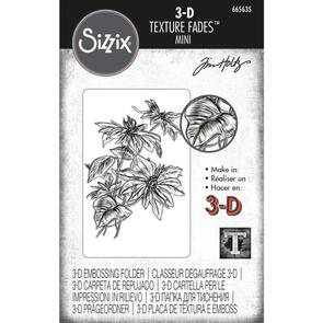 Sizzix Tim Holtz 3-D Texture Fades Embossing Folder - Mini Poinsettia