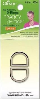 Clover D-Ring 25mm Nickel | Nancy Zieman