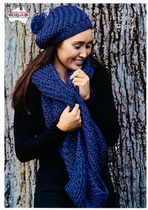 Heirloom 492 Knitting Pattern Beanie and Cowl