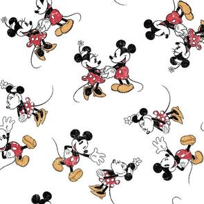Springs Creative  - Fabric - Mickey Minnie Scattered