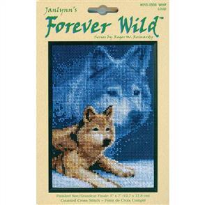 Janlynn Cross Stitch Kit: Wolf