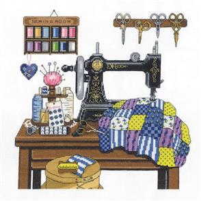 Janlynn  Cross Stitch Kit: Antique Sewing Room
