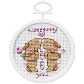 Janlynn  Beginners / Mini Cross Stitch Kit: Somebunny Loves You