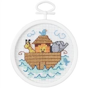Janlynn  Beginners / Mini Cross Stitch Kit: Noah's Ark