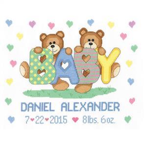 Janlynn Cross Stitch Kit: Teddy Baby