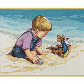 Janlynn Cross Stitch Kit: Seashore Fun