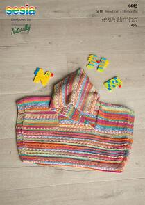 Sesia Knitting Pattern K445 - Oversized Poncho with Hood