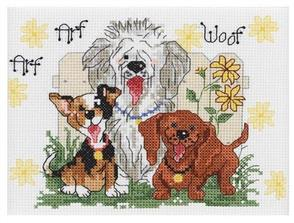 Janlynn Cross Stitch Kit: Dogs of Duckport (Small)