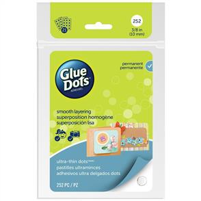 Glue Dots Clear Ulta-Thin Dot Sheets 252/pkg