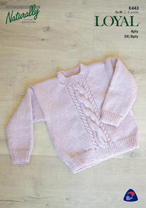 Naturally Cable Panel Sweater, Childrens 2 - 8 years