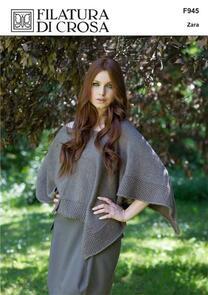 Filatura Di Crosa  Brown Capelet, Zara F945