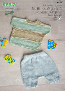 Sesia Knitting Pattern K450 - Top and Shorts