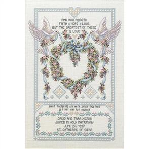 Janlynn Cross Stitch Kit: Wedding Doves
