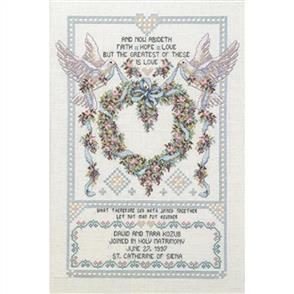 Janlynn Cross Stitch Kit: Wedding Doves